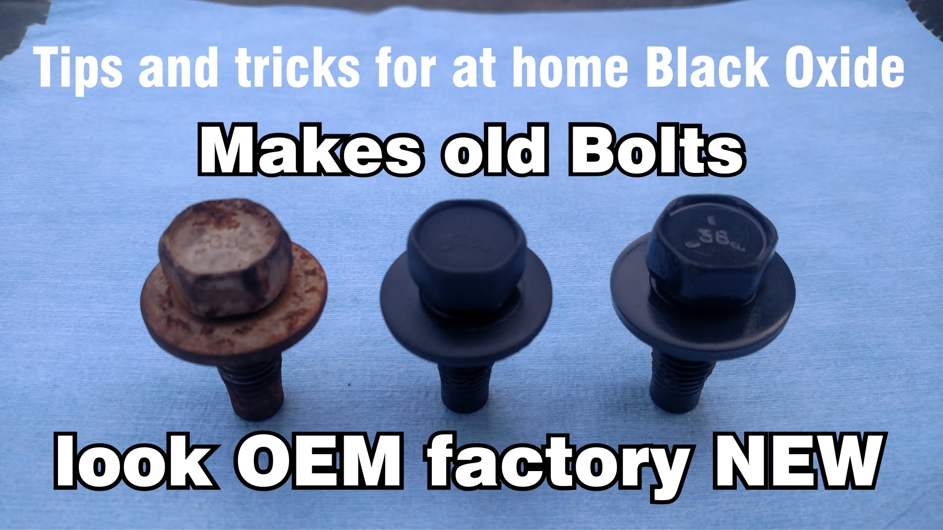 DIY at home original Black Oxide Phosphate OEM Restoration of nuts & bolts