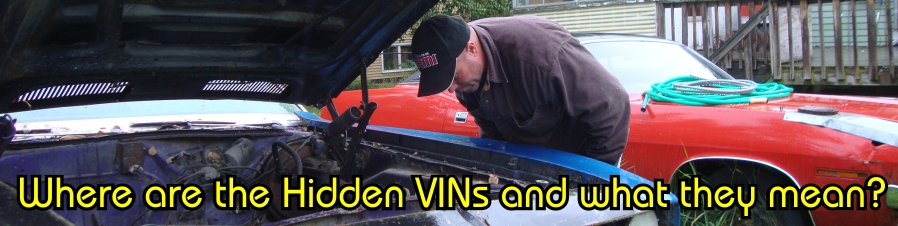 Where to look for VIN numbers on Cuda and Challenger – E-Bodies