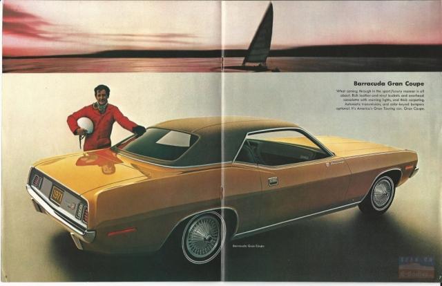 1971 Plymouth Barracuda Brochure E Bodies