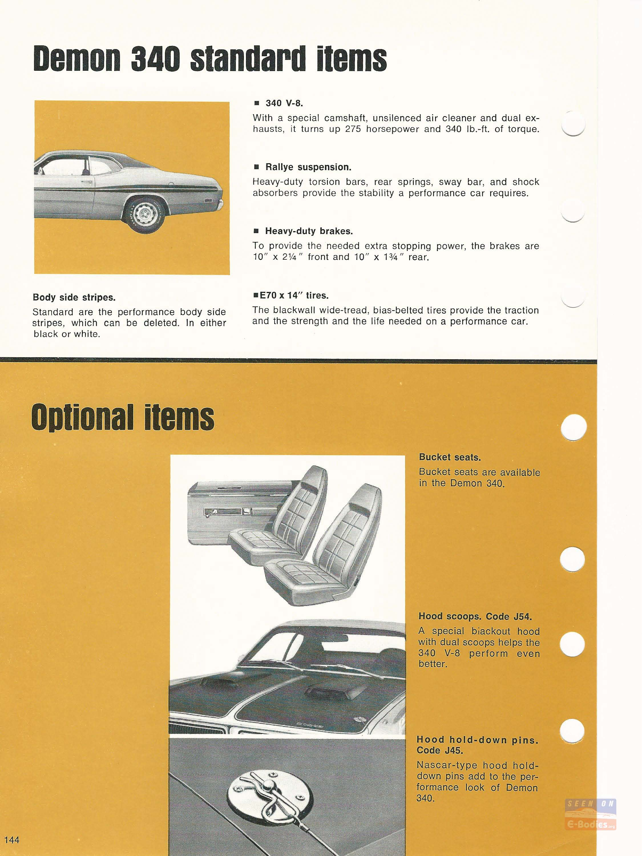 1971 dodge car truck data book scat pack cars e bo s