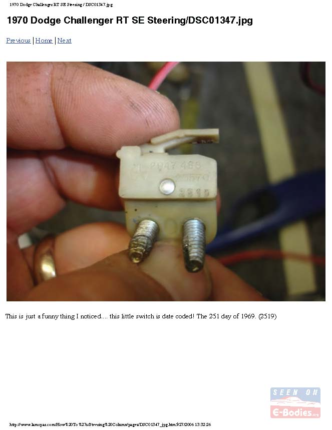 E-Body Steering Column Restoration Assembly – E-Bodies