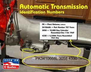 decoding dodge plymouth cuda challenger VIN pad engine transmission