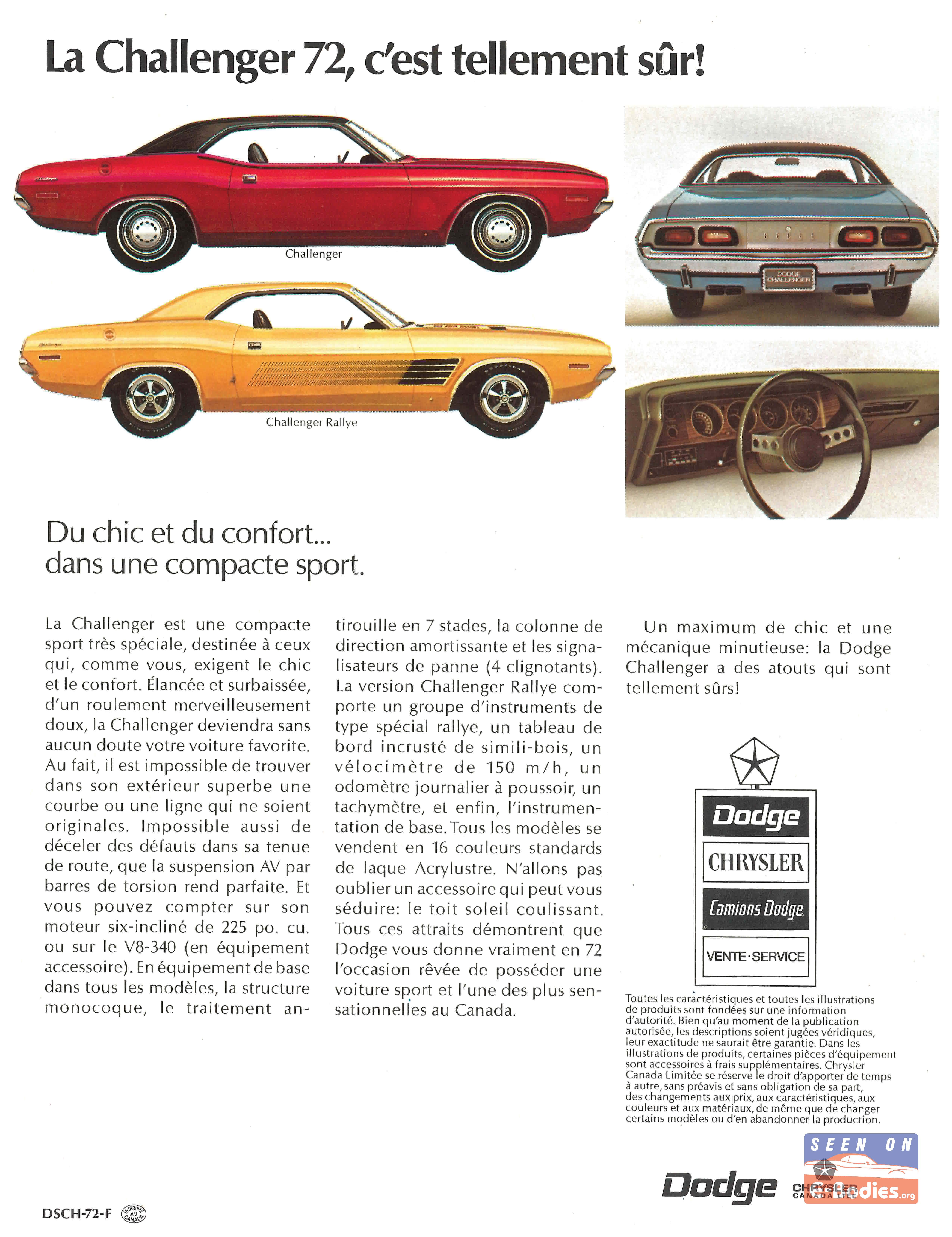 Manuals & Literature Automotive 1972 Dodge Challenger Owners ...