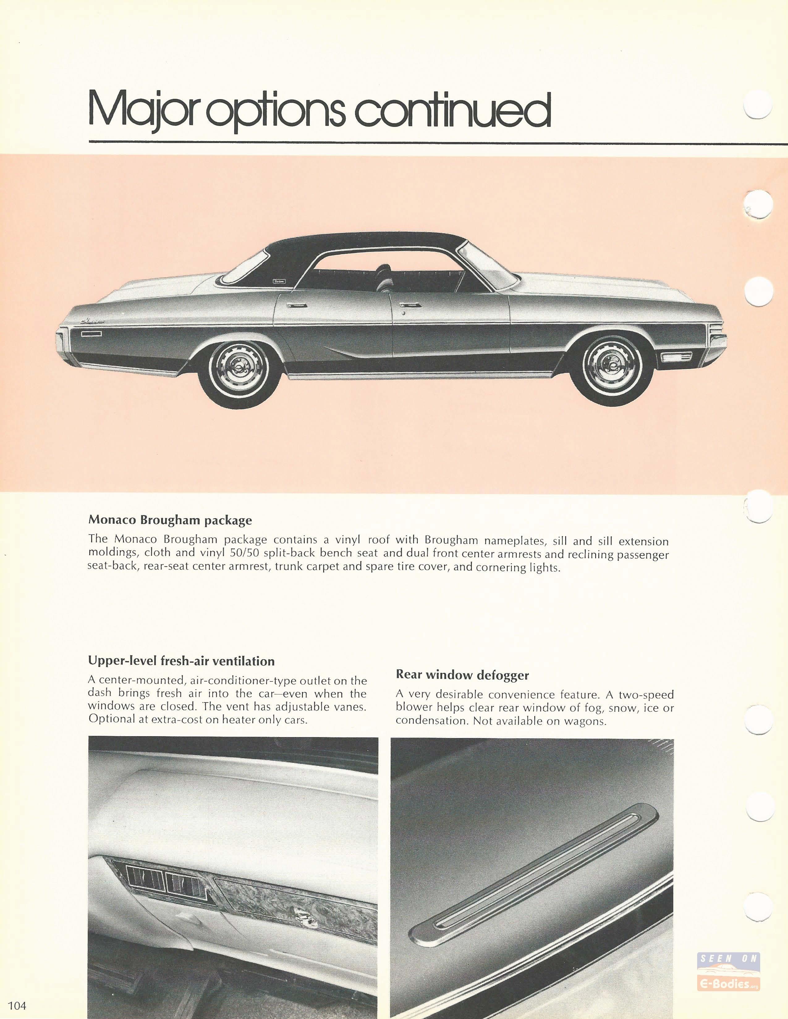 1973 Dodge Data Book Polara Monaco – E-Bodies
