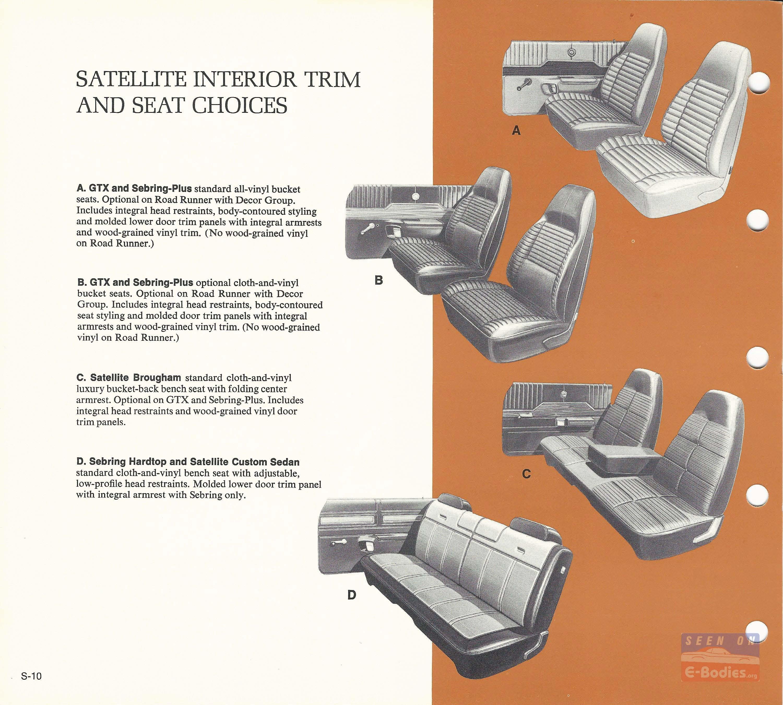 1971 Plymouth Data Book Satellite E Bodies Road Runner Engine Bay Diagram 12